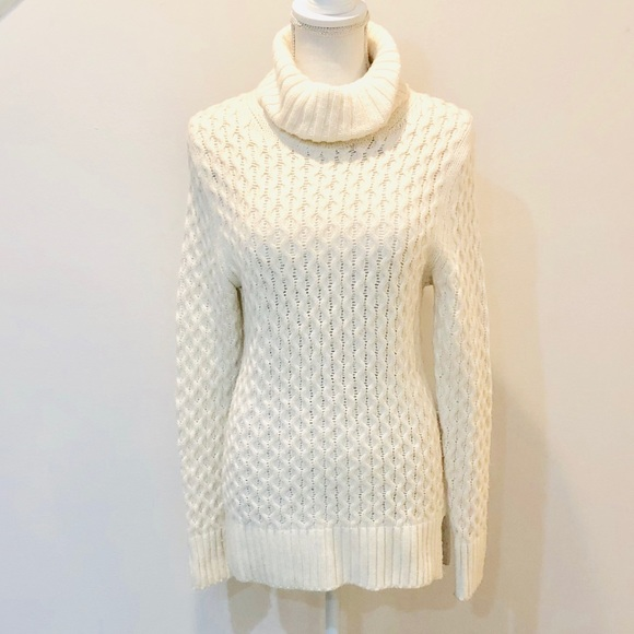 6910c989a1cb51 J. Crew Sweaters | Jcrew Cable Knit Turtleneck Tunic | Poshmark
